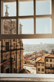 Looking out on Porto