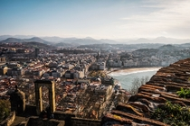 Looking out over San Sebastian Basque Country in Spain  by GoodVybesDaily