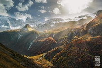 Looking out toward the French Alps from Champagny-en-Vanoise  by Jrmy May