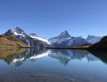 Looking Over Bachsee in Grindelwald Switzerland