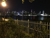 Looking over Manhattan from the Cliffs of Weehawken NJ