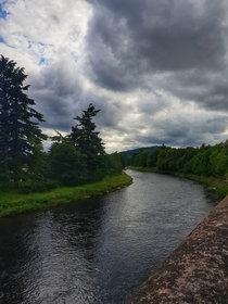 Looking over the River Dee near Banchory Aberdeenshire