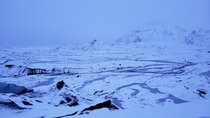 Looking over the walk into Katla Ice Cave Iceland