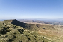 Looking over to Pen-Y-Fan Brecon Beacons in sunshine
