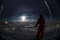 Looking over white darkness Concordia Antarctica  ESAIPEVPNRA - A Salam