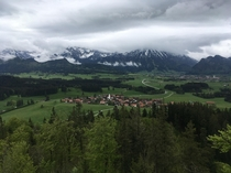 Looking south over Eisenberg Bavaria