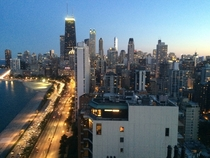 Looking south to downtown Chicago  floors above Lake Shore Drive