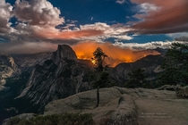Looking through the viewfinder the scene was surreal and epic at the same time Destruction of some of the best and most popular trails in Yosemite - Sundays wildfire at Yosemite NP USA  by Darvin Atkeson
