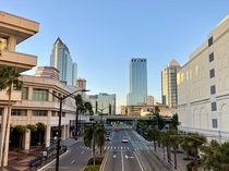Looking toward downtown Tampa FL from the Tampa Convention Center
