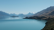 Looking towards the head of Lake Wakatipu - South Island New Zealand