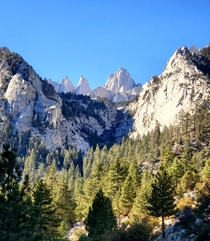 Looking up from the Mount Whitney Portal Inyo National Forest CA USA  x