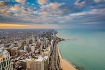 Looking Up Lake Shore Drive Chicago  by Anil Thomas x-post rUnitedStatesofAmerica