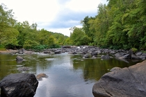 Looking upstream on the Towaliga River - High Falls State Park GA