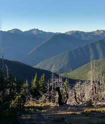 Looking west from Deer Park Campground Olympic National Park WA  elevation