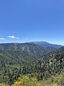 Lookout over the San Bernardino National Forest