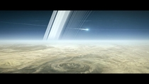 Looks like it could be a sci fi movie but in a few months Cassini is going to end its  year mission by burning up in Saturns atmosphere and in turn become a part of the planet itself