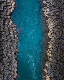 Looks like Minecraft but it is an abstract aerial view of a basalt canyon in Iceland  - more of my abstract landscapes IG glacionaut