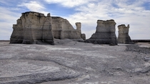 Looks like the Moon but were still in Kansas Dorothy Monument Rocks - Gove County KS USA