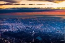 Los Angeles and the surrounding sprawl