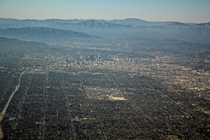 Los Angeles From a few thousand feet in the sky