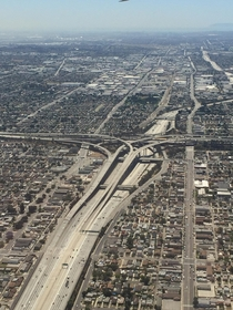 Los Angeles looking South over the  interchange