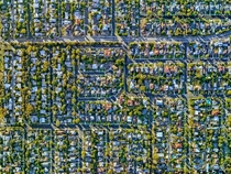 Los Angeles suburbs from above  by Jeffrey Milstein