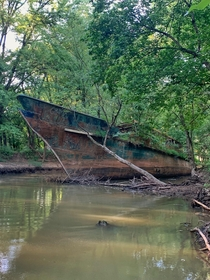 Lost Circle Line V Found her tucked into a creek off of the Ohio River