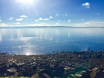 Loughshore Beach Near Belfast Northern Ireland Taken by my Girlfriend on a Beautiful Sunday Morning
