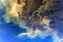 Louisiana as pictured from the International Space Station taken by NASA astronaut Jessica Meir