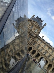 Louvre reflected in IM Pei Addition - Paris