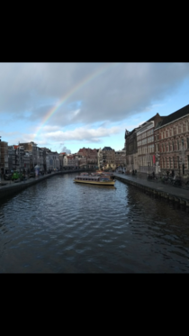 Love my city Rokin Amsterdam God added a rainbow to prove my point