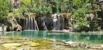 Love the color of the water at Hanging Lake Glenwood Springs Colorado