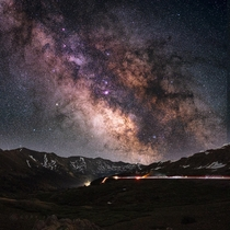 Loveland pass CO is a wonderful place to have an existential crisis watching the Milky Way core  Aiii   mm F  Star tracker