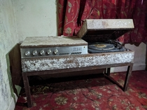 Lovely find an old Ferguson record player Definitely seen better days
