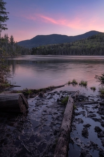 Lovely light and loonsong at lonesome lake New Hampshire