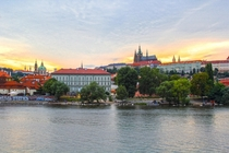 Lovely sunset in Prague