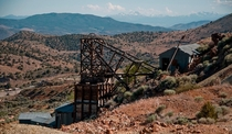 Lovely view and photo op but had to avoid the rowdy dogs down below I explored this old mine facility and the top machine room that was literally in some guys back yard The whole thing was a time capsule of engineering and history I have interior pics as