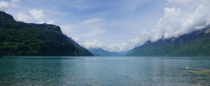 Lovely view from a bench in Brienz that overlooks the lake