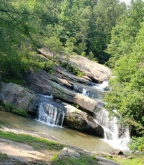 Lovely waterfall in Chau Ram Park South Carolina
