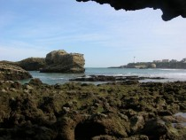 Low tide Biarritz France