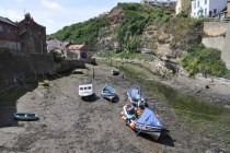 Low tide Staithes North Yorkshire England
