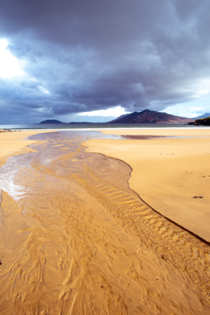 Low tide with storm rolling in - Ballymastocker Beach County Donegal Ireland