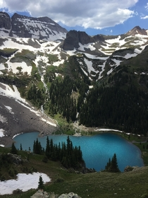 Lower Blue Lake Sneffels Wilderness Colorado OC
