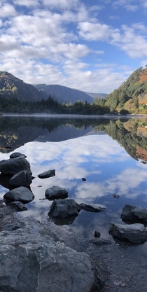 Lower lake at Wicklow National Park in Wicklow Co Ireland