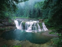 Lower Lewis River Falls Washington State