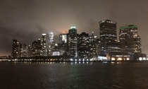 Lower Manhattan from the Staten Island Ferry last night