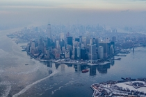 Lower Manhattan in winter NYC  by Anthony Quintano