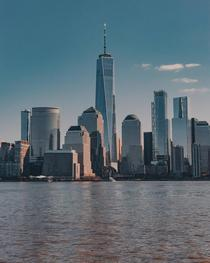 Lower Manhattan NY as seen from Jersey City NJ