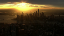 Lower Manhattan right now from tonights Mets broadcast SportsNet New York