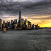 Lower Manhattan sunrise by Timothy Borkowski